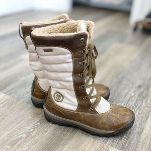 Timberland Tall Lace Up Taupe Brown Duck Boot 11M